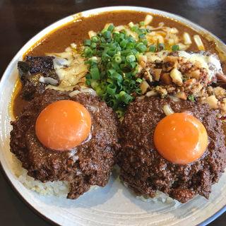 辛口 大盛 キーマW 豚 チーズ アチャール  (吉田カレー  )