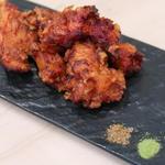 鶏の唐揚げ(抹茶塩と山椒で)