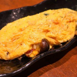 とろ~りチーズのきのこオムレツ(たか鳥 神戸三宮中山手通店)