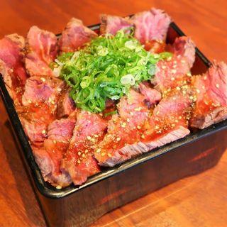 鉄板ハラミステーキ重 200g(梅田肉料理 きゅうろく)