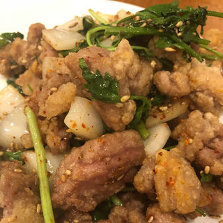 ラム肉炒め クミン(羊香味坊)