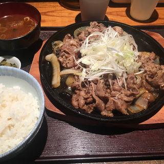 牛すき鉄板定食(葱や 平吉)