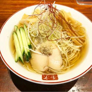 冷やし白醤油ラーメン(元祖熟成細麺 香来 壬生本店 )