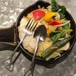 1日分の野菜カレー(タイ風グリーンカレー)
