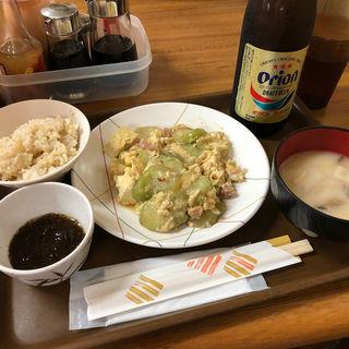 ナーベラー味噌煮定食(花笠食堂 (はながさしょくどう))