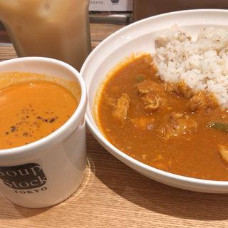 カレーとスープのセット(スープストックトーキョー ルクア大阪店 (Soup Stock Tokyo))