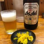 ビール(にんにくラーメン 一力)