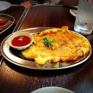 豚挽肉のタイ風オムレツ(タイ東北モーラム酒店)