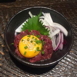 馬肉ユッケ(博多満月 八丁堀店 )