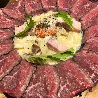 ローストビーフ 肉ボナーラ(Garden's Pasta Cafe ONS)