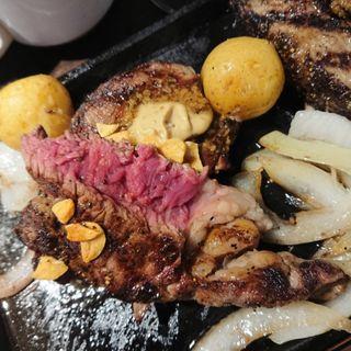 ランチヒレステーキ&ハンバーグ(いきなりステーキ 国立店 )