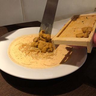 生ウニのトマトクリームスパゲティ(ウニ特盛)(トラットリア マッサ)