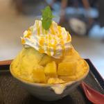 マンゴーエスプーマかき氷(丹波立杭 YAMATO cafe)