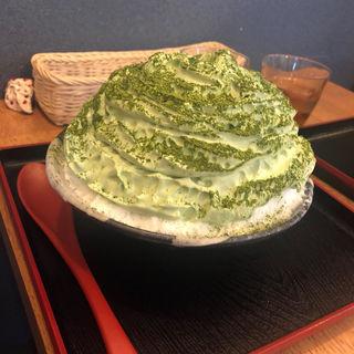 抹茶エスプーマかき氷(丹波立杭 YAMATO cafe)