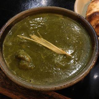 ■ほうれん草とチキンのカレー(インド料理 シャティ (Shathi))