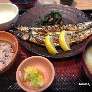 サンマの塩焼き定食(大戸屋  亀戸駅前店 )