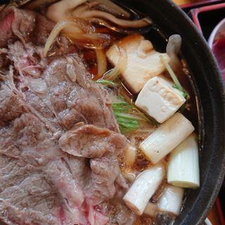 特選アンガスビーフのすき焼きうどん鍋(和食れすとらん 天狗 高幡不動店 )