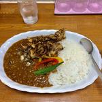 舞茸と夏野菜のキーマカレー
