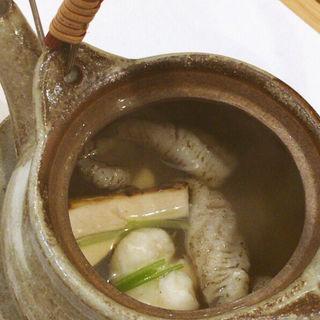 松茸と鱧の土瓶蒸し(阿波座 なが友)
