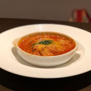 牛トリッパのピリ辛トマト煮込み(トラットリア マッサ)