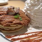 モンブランパンケーキ