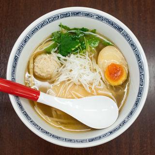 鯛煮干しと鶏清湯(麺や 睡蓮)