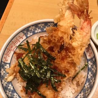 天丼、割子そば(加辺屋 川端本店 (かべやかわ))