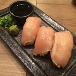 朝引きの鶏の握り寿司