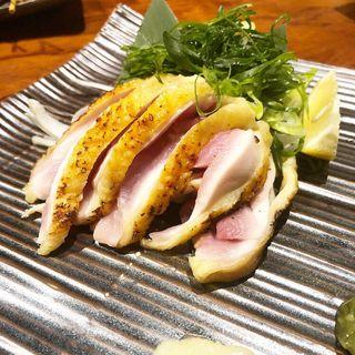 ひね鶏のたたき 自家製ぽん酢(炭火串焼 つじや 本店 )