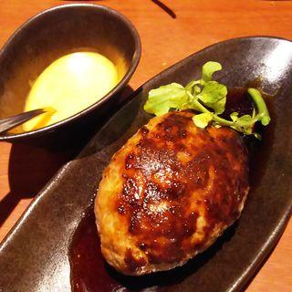 とろけるチーズで食べる!牛肉100%つくね(キタノイチバ 鹿島田駅前店)