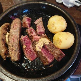 ワイルドステーキ&ハンバーグ盛り合わせ(いきなりステーキ 国立店 )