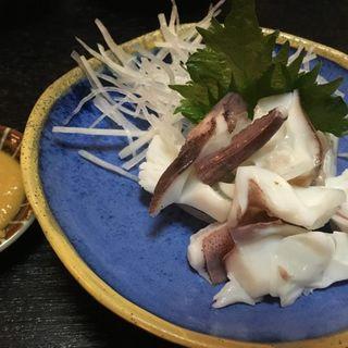 茹でイカと酢味噌(味處こいそ)