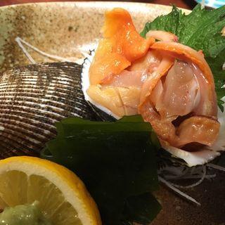 赤貝の刺身(割烹・小料理 輝石)