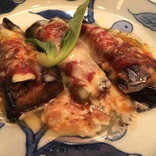 ナスとアンチョビのチーズ焼き(波菜舎)