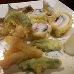 太刀魚と梅肉の天ぷら