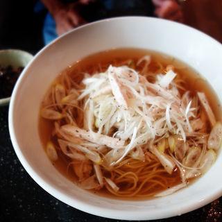 蒸し鶏と葱の中華そば(蒼)
