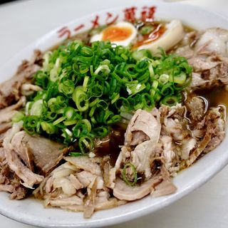 醬油チャーシューメン(並)+煮タマゴ(中華そば 萬福 京都駅前店 )