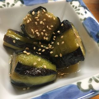 茄子の味噌ころがし(寿司割烹『松ふじ』)