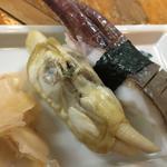 あげまき貝とイカ下足の握り