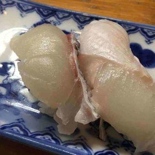 鯛と平目の握り(寿司割烹『松ふじ』)