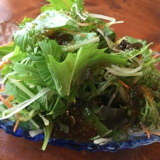 水菜サラダ(あかま)
