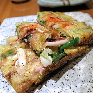 海鮮ねぎチヂミ(韓国料理 水刺齋 高島屋タイムズスクエア店 )