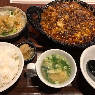 土鍋麻婆豆腐定食(博多うまかもん小野)