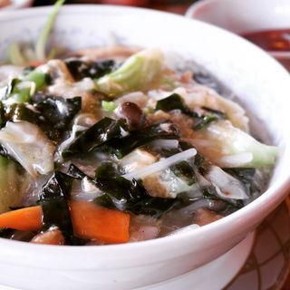 農家の野菜たっぷりあんかけ湯麺(中国茶房8 恵比寿店 (チャイニーズカフェ・エイト))