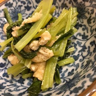 小松菜と油あげのおひたし(家庭の味 ほろよい)