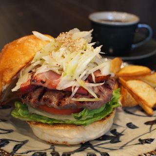 ねぎ塩ベーコンのハンバーガー 〜ごま油の香り〜(三六〇 さんろくまる)
