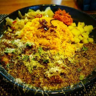 チキンカレー定食(スパイスカレー青藍)