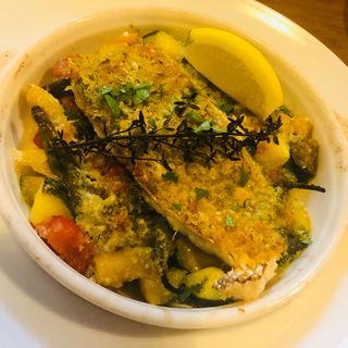 真鯛と夏野菜のオーブン焼き(funicula)