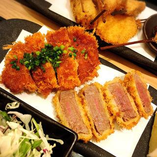 牛カツ & 鶏カツ御膳(串亭 ルミネ池袋 (ルミネイケブクロ))