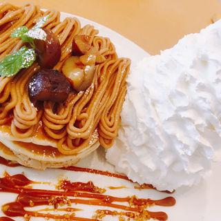 モンブランパンケーキ(Eggs 'n Things ららぽーと立川立飛店)
